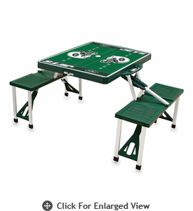 Picnic Time NFL - Hunter Green Picnic Table Sport New York Jets