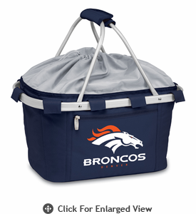 Picnic Time NFL - Navy Blue Metro Basket Denver Broncos