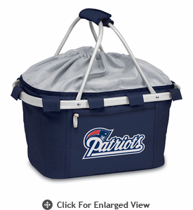 Picnic Time NFL - Navy Blue Metro Basket New England Patriots