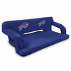 Picnic Time NFL - Navy Blue Reflex Travel Couch Buffalo Bills