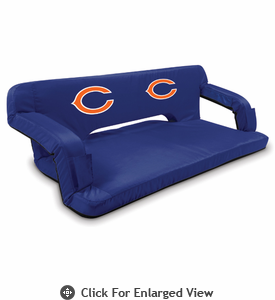 Picnic Time NFL - Navy Blue Reflex Travel Couch Chicago Bears