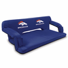 Picnic Time NFL - Navy Blue Reflex Travel Couch Denver Broncos
