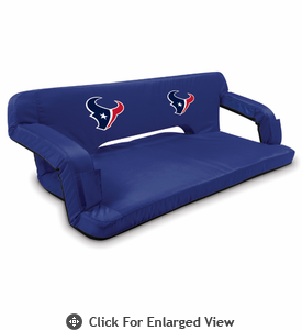 Picnic Time NFL - Navy Blue Reflex Travel Couch Houston Texans