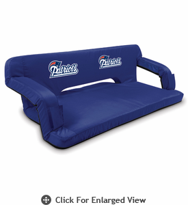 Picnic Time NFL - Navy Blue Reflex Travel Couch New England Patriots