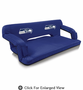 Picnic Time NFL - Navy Blue Reflex Travel Couch Seattle Seahawks
