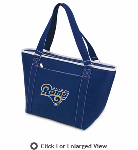 Picnic Time NFL - Navy Blue Topanga Cooler Tote St. Louis Rams