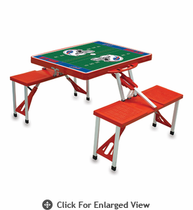 Picnic Time NFL - Red Picnic Table Sport Buffalo Bills