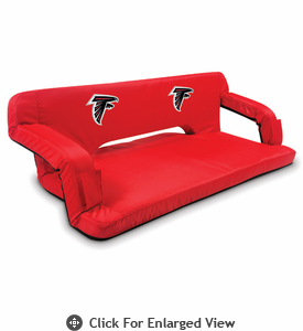 Picnic Time NFL - Red Reflex Travel Couch Atlanta Falcons