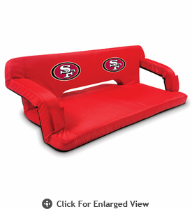 Picnic Time NFL - Red Reflex Travel Couch San Francisco 49ers