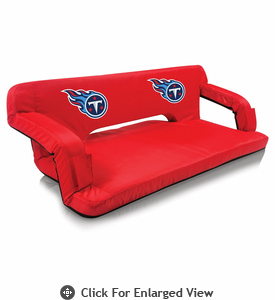 Picnic Time NFL - Red Reflex Travel Couch Tennessee Titans