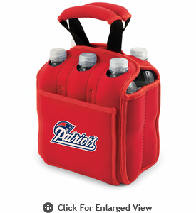 Picnic Time NFL - Red Six Pack New England Patriots