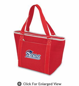 Picnic Time NFL - Red Topanga Cooler Tote New England Patriots