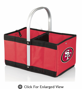 Picnic Time NFL - Red Urban Basket San Francisco 49Ers
