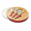 Picnic Time NFL - Red Ventana Cheese Board Arizona Cardinals