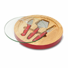 Picnic Time NFL - Red Ventana Cheese Board New England Patriots