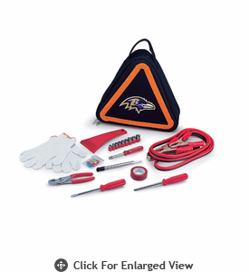 Picnic Time NFL - Roadside Emergency Kit Baltimore Ravens