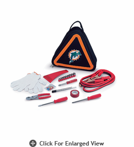 Picnic Time NFL - Roadside Emergency Kit Miami Dolphins