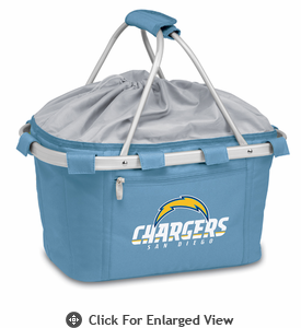 Picnic Time NFL - Sky Blue Metro Basket San Diego Chargers