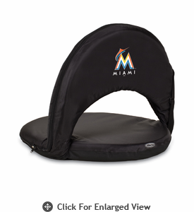 Picnic Time Oniva Seat - Black Miami Marlins