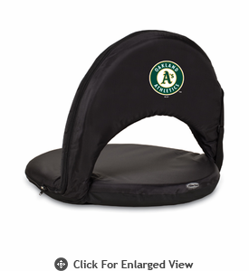 Picnic Time Oniva Seat - Black Oakland Athletics