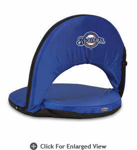 Picnic Time Oniva Seat - Navy Blue Milwaukee Brewers