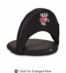 Picnic Time Oniva Seat Sport - Black University of Wisconsin Badgers
