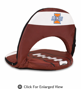 Picnic Time Oniva Seat Sport Football  University of Illinois Fighting Illini