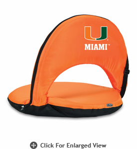 Picnic Time Oniva Seat Sport - Orange University of Miami Hurricanes