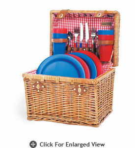 Picnic Time� Oxford Picnic Basket for 4