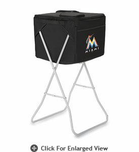 Picnic Time Party Cube - Black Miami Marlins
