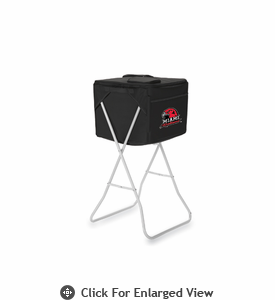Picnic Time Party Cube - Black Miami University Red Hawks