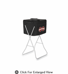 Picnic Time Party Cube - Black Mississippi State Bulldogs