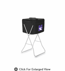 Picnic Time Party Cube - Black Northwestern University Wildcats