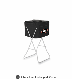 Picnic Time Party Cube - Black University of Georgia Bulldogs