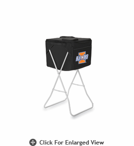 Picnic Time Party Cube - Black University of Illinois Fighting Illini