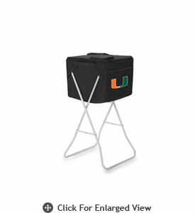 Picnic Time Party Cube - Black University of Miami Hurricanes