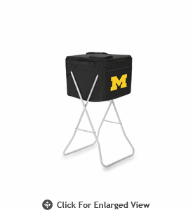Picnic Time Party Cube - Black University of Michigan Wolverines