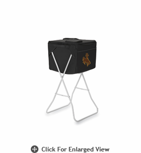 Picnic Time Party Cube - Black University of Wyoming Cowboys