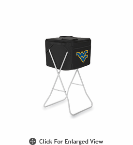 Picnic Time Party Cube - Black West Virginia University Mountaineers