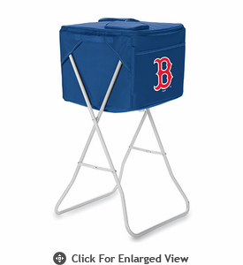 Picnic Time Party Cube - Navy Blue Boston Red Sox