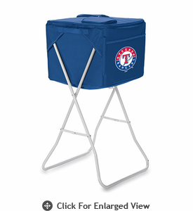 Picnic Time Party Cube - Navy Blue Texas Rangers