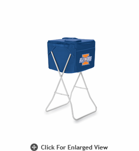 Picnic Time Party Cube - Navy Blue University of Illinois Fighting Illini