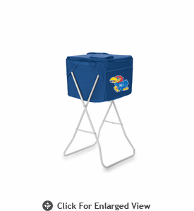 Picnic Time Party Cube - Navy Blue University of Kansas Jayhawks