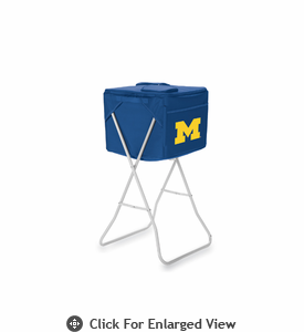 Picnic Time Party Cube - Navy Blue University of Michigan Wolverines