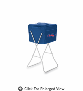 Picnic Time Party Cube - Navy Blue University of Mississippi Rebels