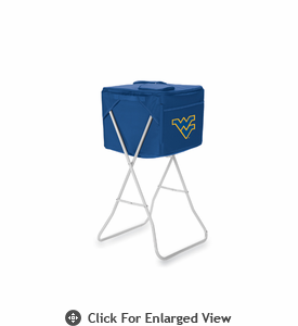 Picnic Time Party Cube - Navy Blue West Virginia University Mountaineers