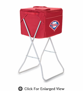 Picnic Time Party Cube - Red Philadelphia Phillies