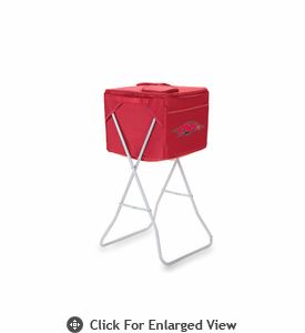 Picnic Time Party Cube - Red University of Arkansas Razorbacks