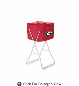 Picnic Time Party Cube - Red University of Georgia Bulldogs