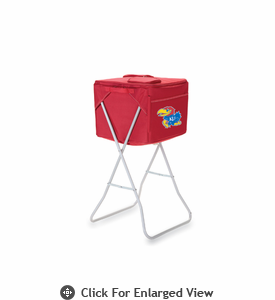 Picnic Time Party Cube - Red University of Kansas Jayhawks